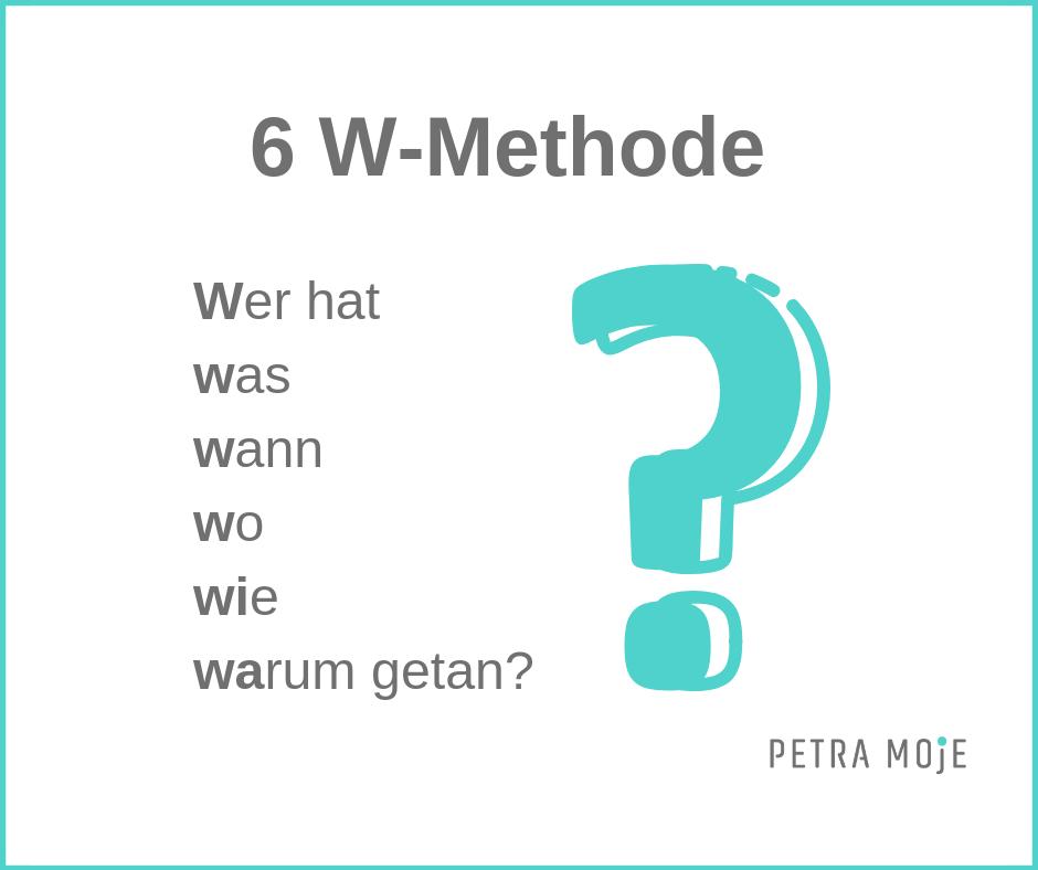 Entscheidungen treffen 6 W-Methode