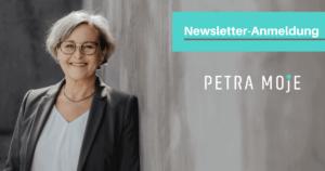 Newsletter-Anmeldung Petra Moje
