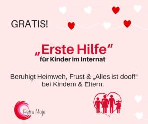 Erste Hilfe für Kinder im Internat - Petra Moje